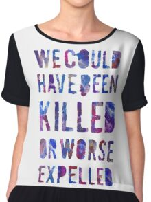 OR WORSE (painted) Chiffon Top