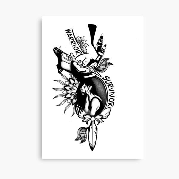 Warrior Survivor Tattoo Canvas Print