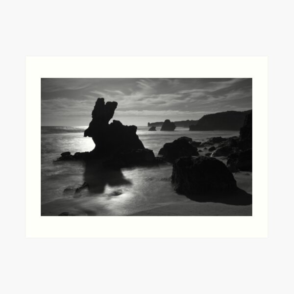 Rabbit Rock (Bunny Rock) - Montforts beach. Art Print