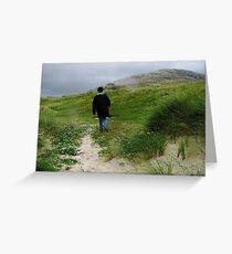 Seeking Shelter From The Storm - Luskentyre Beach Greeting Card