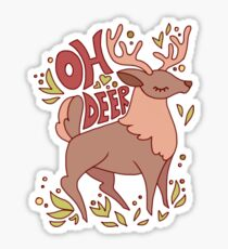 OH DEER Sticker