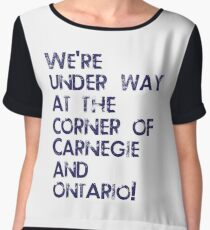Carnegie and Ontario Chiffon Top