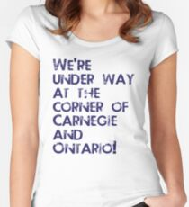 Carnegie and Ontario Women's Fitted Scoop T-Shirt