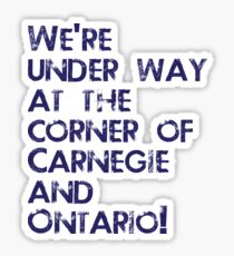 Carnegie and Ontario Sticker
