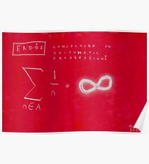 Conjecture On Arithmetic Progression With Paul Erdos Poster