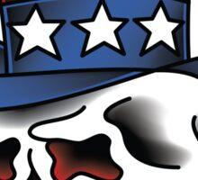 Uncle Sam Skull Sticker