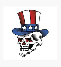 Uncle Sam Skull Photographic Print