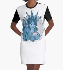 Nasty Lady Liberty Graphic T-Shirt Dress