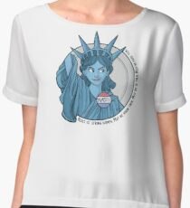 Nasty Lady Liberty Chiffon Top