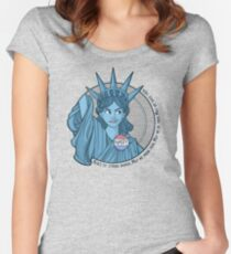 Nasty Lady Liberty Women's Fitted Scoop T-Shirt