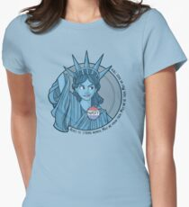 Nasty Lady Liberty Women's Fitted T-Shirt
