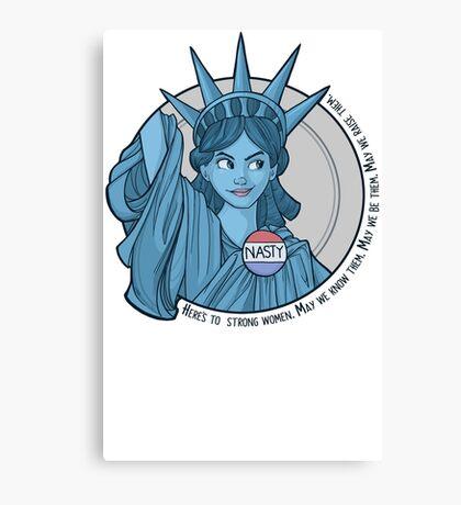 Nasty Lady Liberty Canvas Print