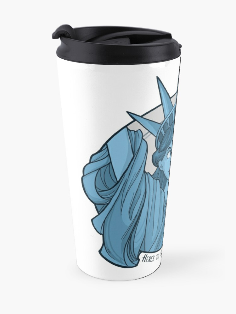 Alternate view of Nasty Lady Liberty Travel Mug
