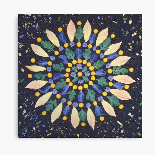 September Full Moon Flower Mandala Canvas Print