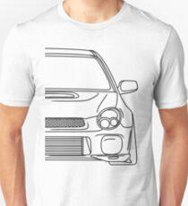 wrx sti outline - black T-Shirt