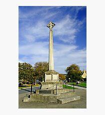 War Memorial at Broadway, UK  Photographic Print