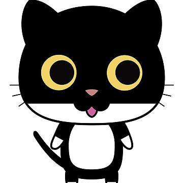 El gato negro es feliz de peggieprints