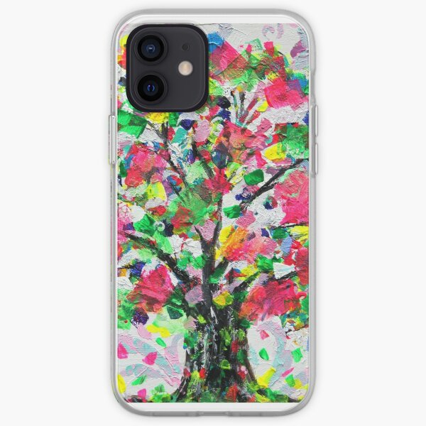 Happy Tree by Jan Marvin iPhone Soft Case