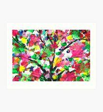 Happy Tree Abstract by Jan Marvin Art Print