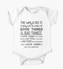 """Good Things & Bad Things"" - 11th Doctor Quote Kids Clothes"