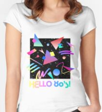 HELLO MEMPHIS (black) Women's Fitted Scoop T-Shirt