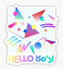 HELLO MEMPHIS (white) Sticker