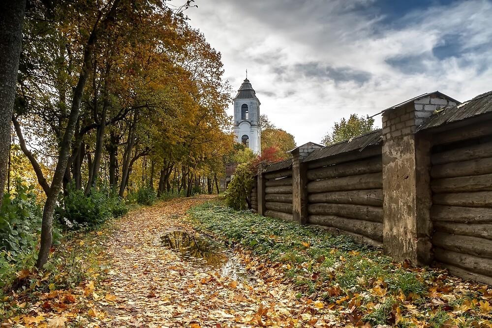 The trail to the monastery by Geraldas Galinauskas
