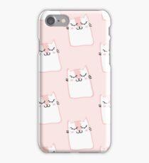 Cute pink kitty print iPhone Case/Skin