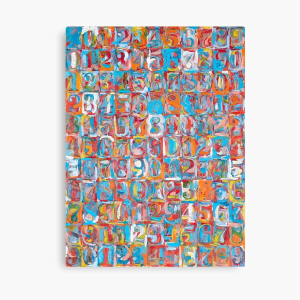 Jasper Johns | Numbers in Color |  Canvas Print