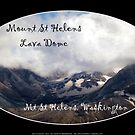 Mount St Helens lava dome, oval  by Dawna Morton