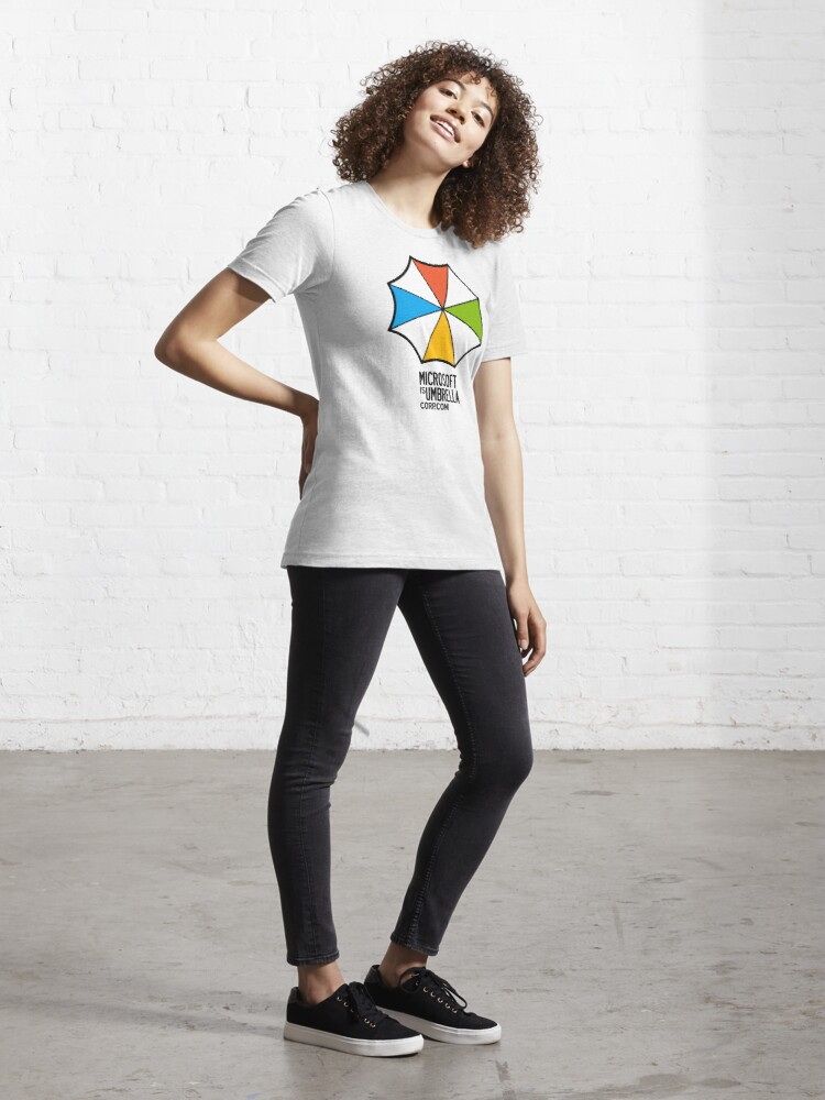 Alternate view of Microsoft is Umbrella Corp Essential T-Shirt