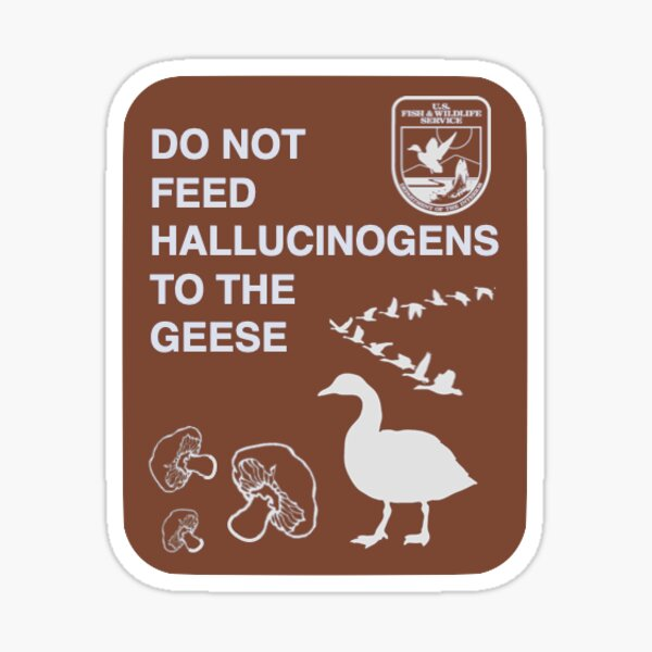 Do Not Feed Hallucinogens to the Geese Sticker