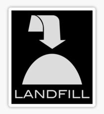 Trash - Landfill, in black Sticker