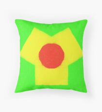 three colored Abstract pattern Throw Pillow