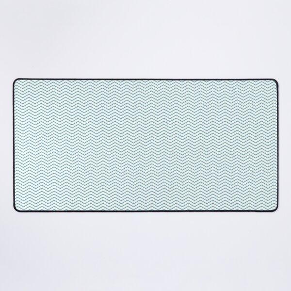 Blue Chevron Desk Mat