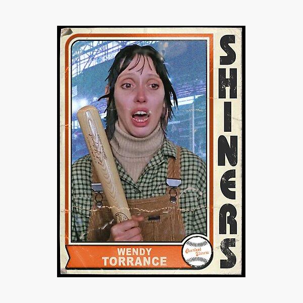 Wendy Torrance Retro Baseball Card Photographic Print