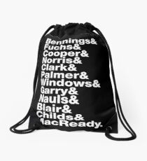 The Thing Movie Death Order Helvetica Jetset horror science fiction fan shirt Drawstring Bag