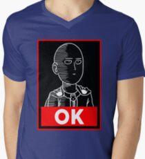 Saitama Ok Mens V-Neck T-Shirt