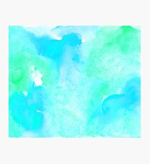 Aquamarine watercolor Photographic Print