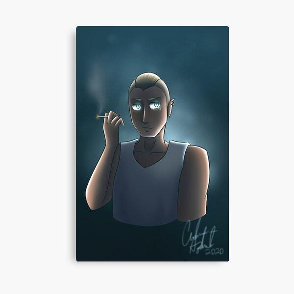 Kai Dramatic Smoking Canvas Print