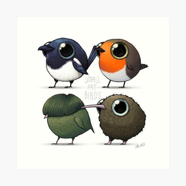 Small Fat Birds Art Print