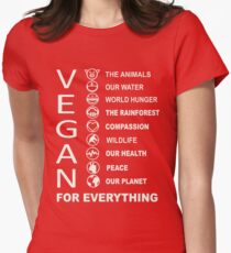 Vegan - Vegan For Everything Womens Fitted T-Shirt