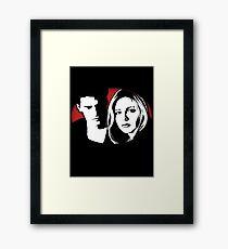 Buffy/Angel Motif Framed Print