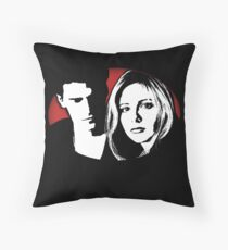 Buffy/Angel Motif Throw Pillow