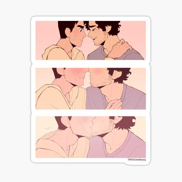 Reddie Kiss Comic Sticker
