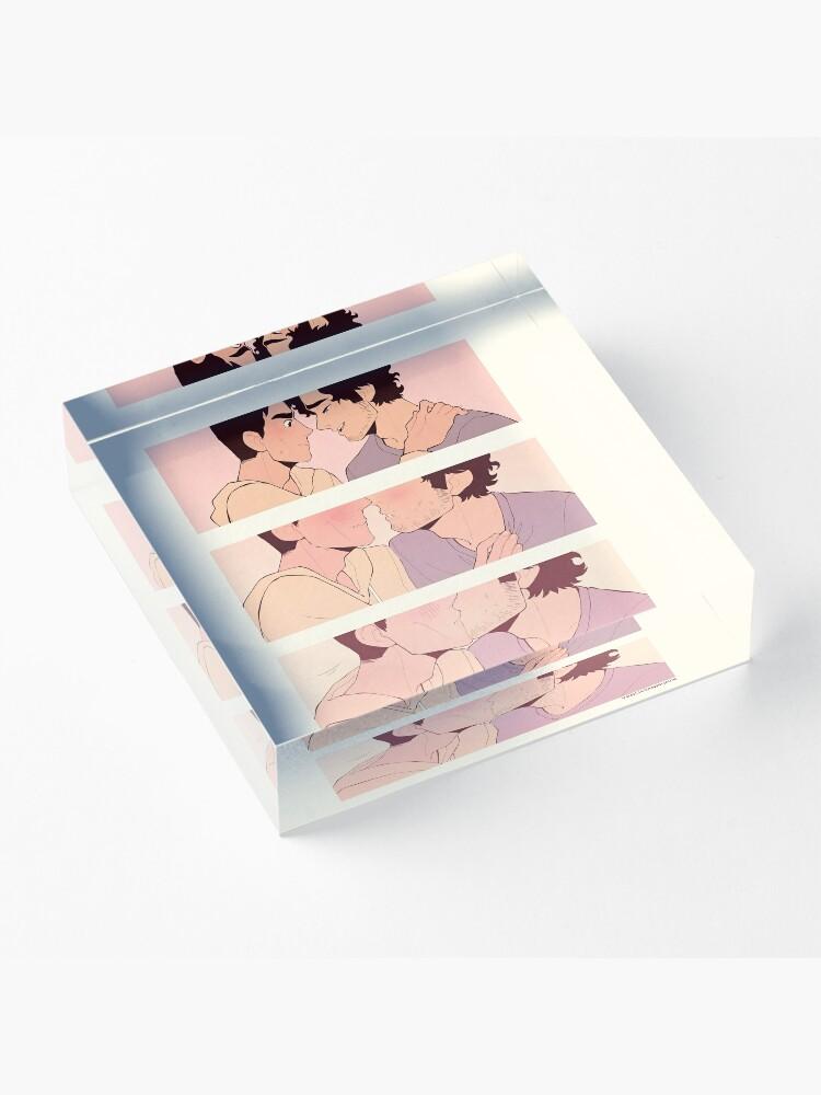 Alternate view of Reddie Kiss Comic Acrylic Block