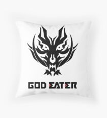 God Eater 2 Rage Burst Logo and Text Throw Pillow