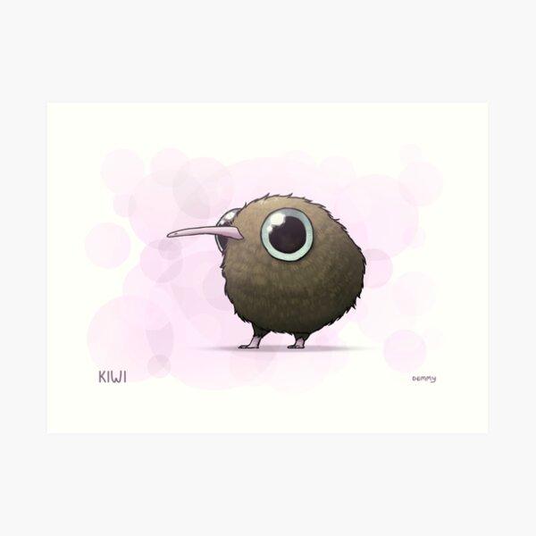 Cute Fat Kiwi Art Print