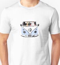 VW Camper Santa Father Christmas Pale Blue T-Shirt