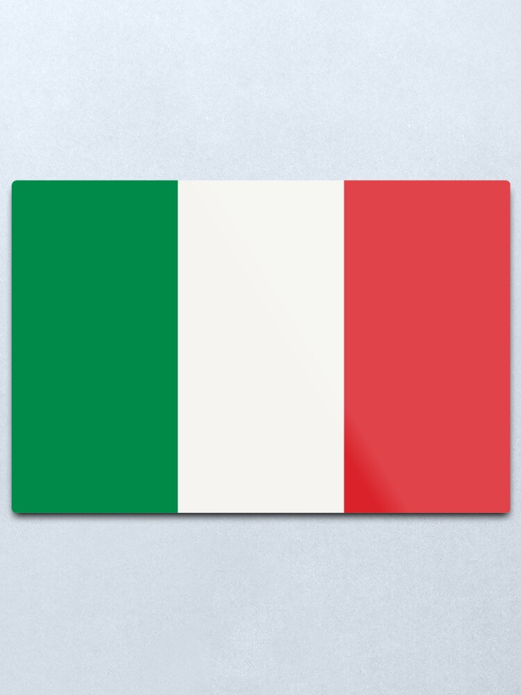 Alternate view of Flag of Italy Metal Print